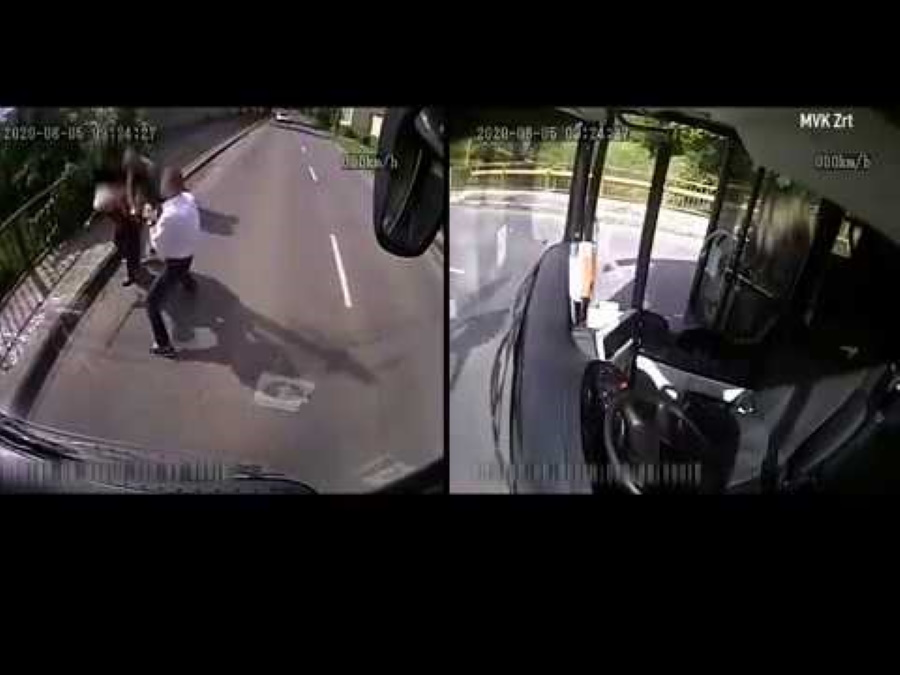 Video: Hungarian Hero Bus Driver Confronts Mugger