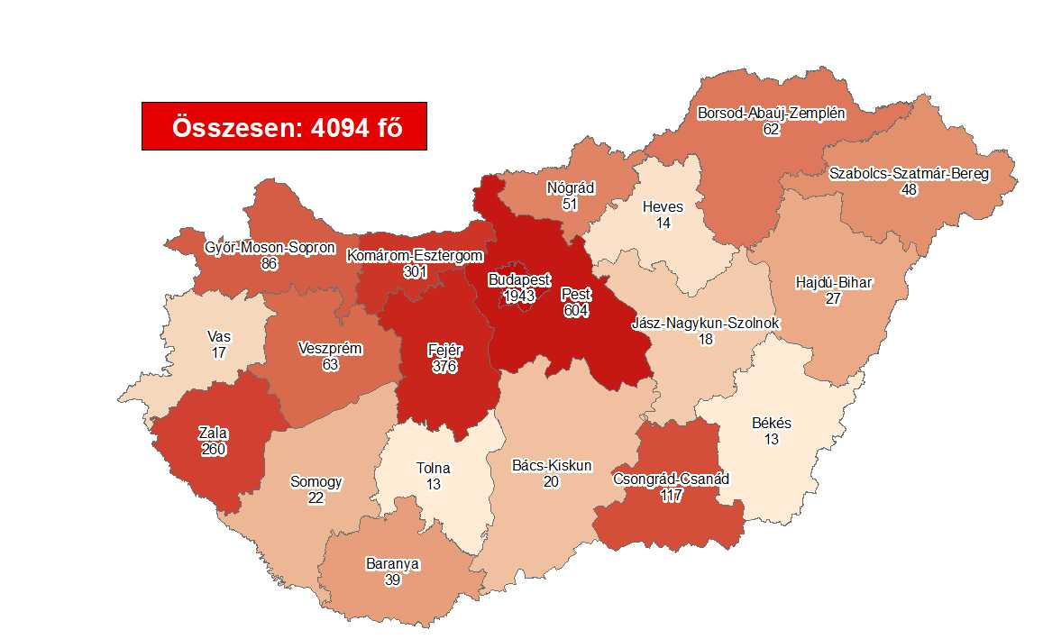 Coronavirus: Cases Rise To 4094 With No New Deaths In Hungary