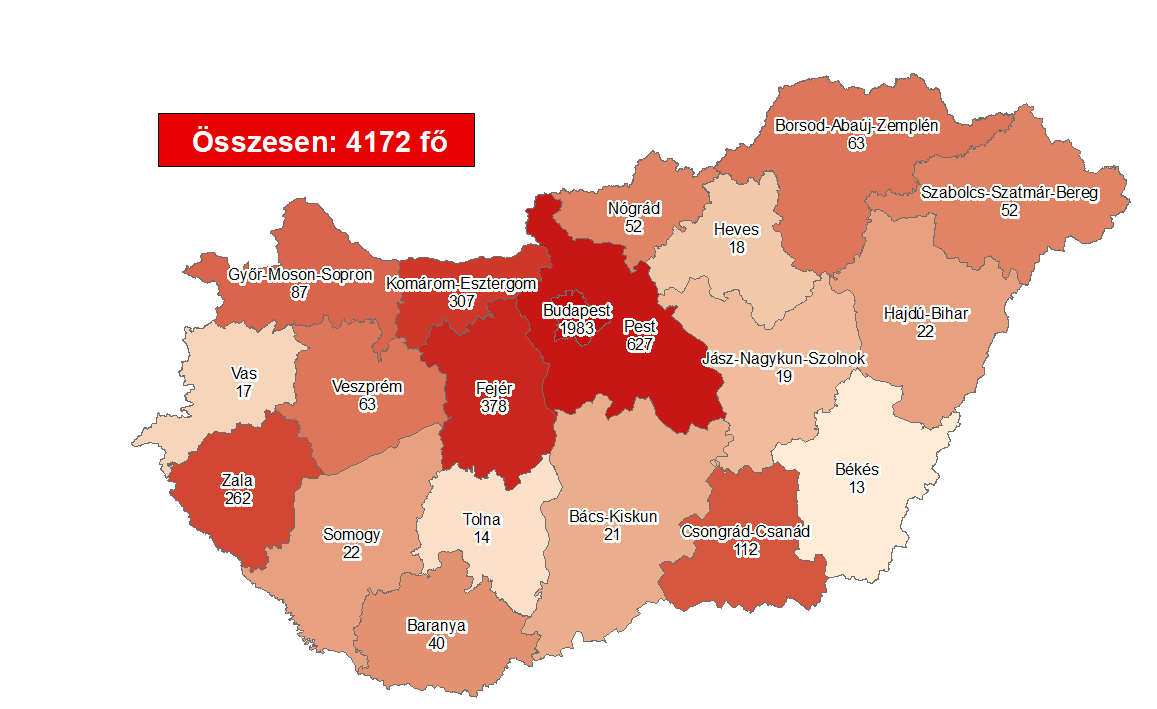 Coronavirus: Active Cases Stand At 832 With One New Death In Hungary