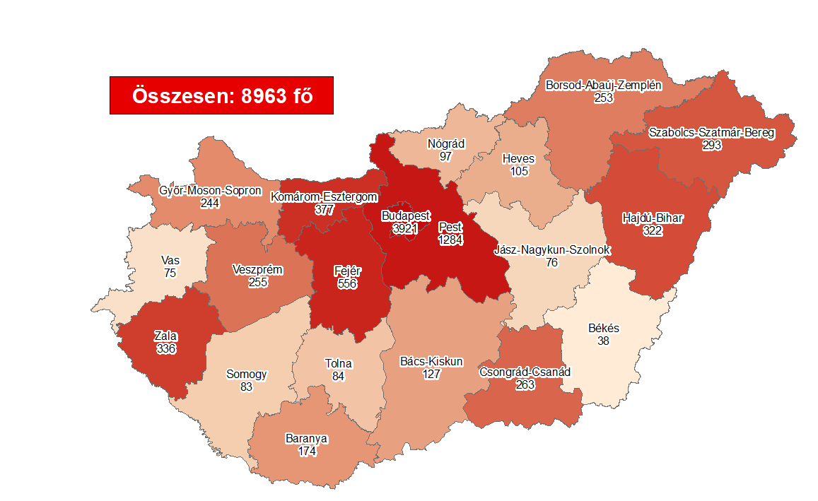 Coronavirus: Active Cases Stand At 4,377 With 1 New Death In Hungary