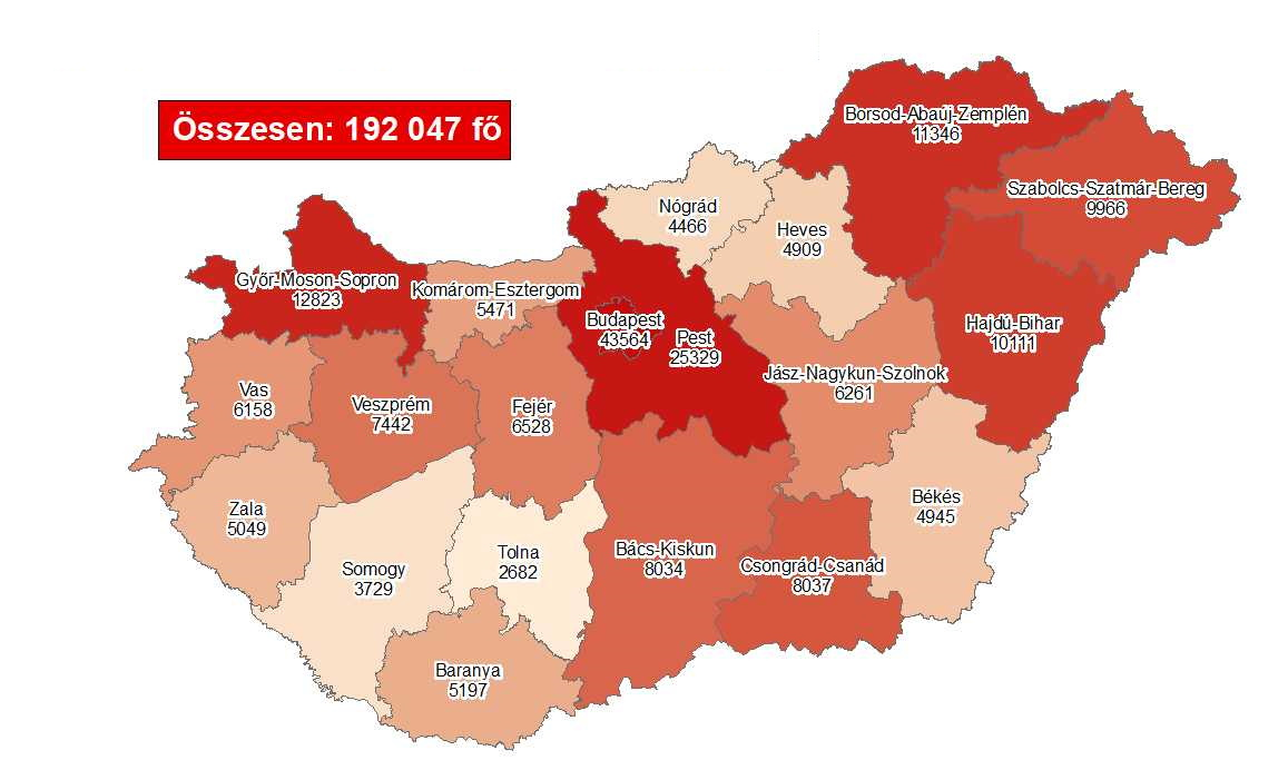Covid Update: 138,202 Active Cases, 115 New Deaths In Hungary