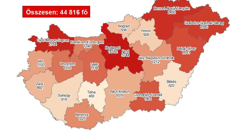 Coronavirus: Active Cases Stand At 30,127 With 24 New Deaths In Hungary