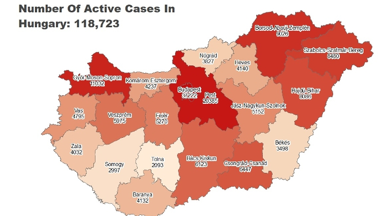 Covid Update: 118,723 Active Cases, 99 New Deaths In Hungary