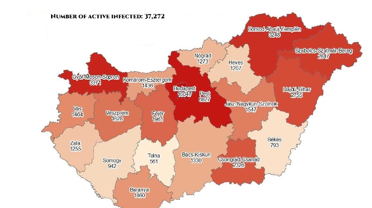 Coronavirus: Active Cases Stand At 37,272 With 47 New Deaths In Hungary