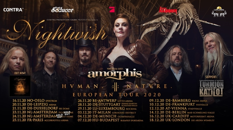Nightwish @ Budapest Arena, 7 December