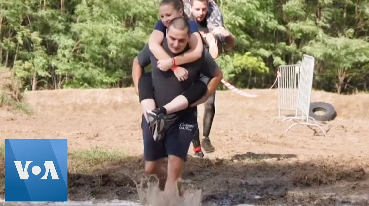 Video: Funny Wife-Carrying Race In Hungary