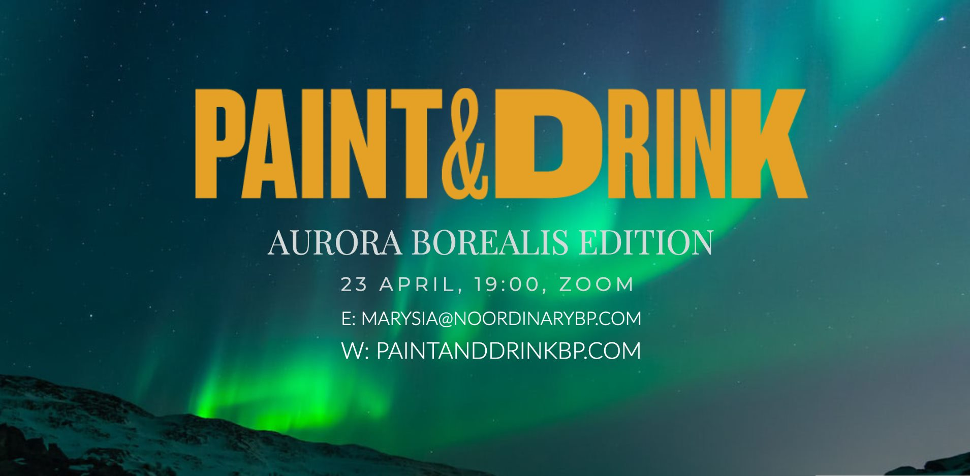 Online Paint & Drink – Northern Lights