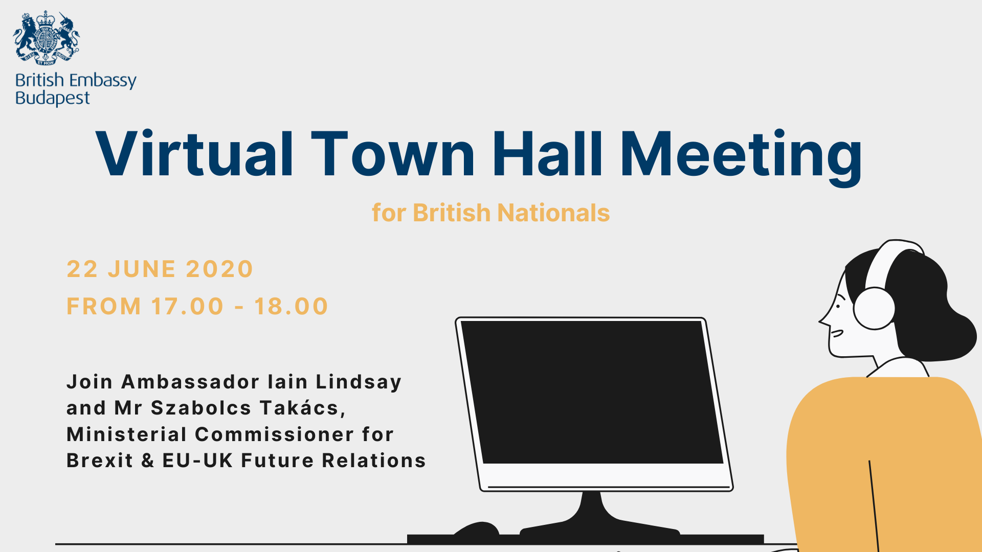 Virtual Town Hall Meeting For British Nationals