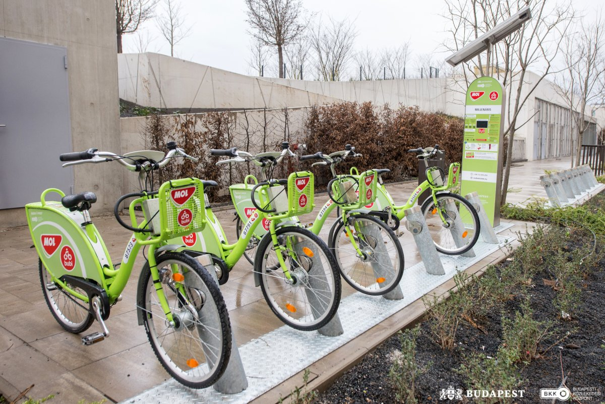 New Bubi Bike Station Near Budapest Millenáris Park