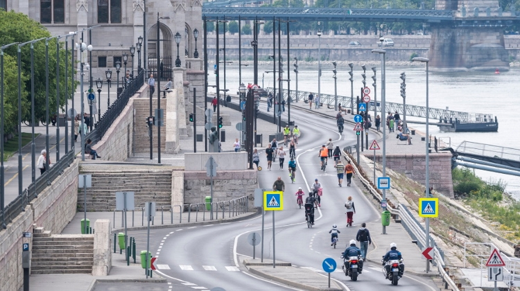 Budapest Riverside Road Open To Pedestrians On Weekends Until September