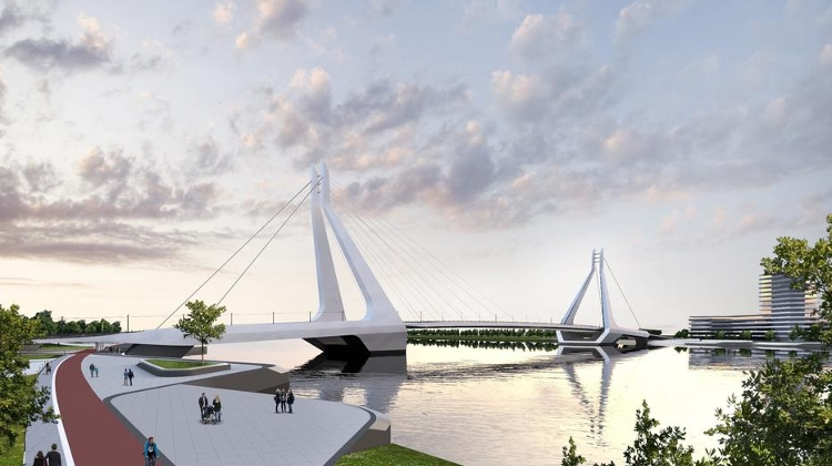 Video: Impressive New Budapest Bridge Planned At Csepel Island