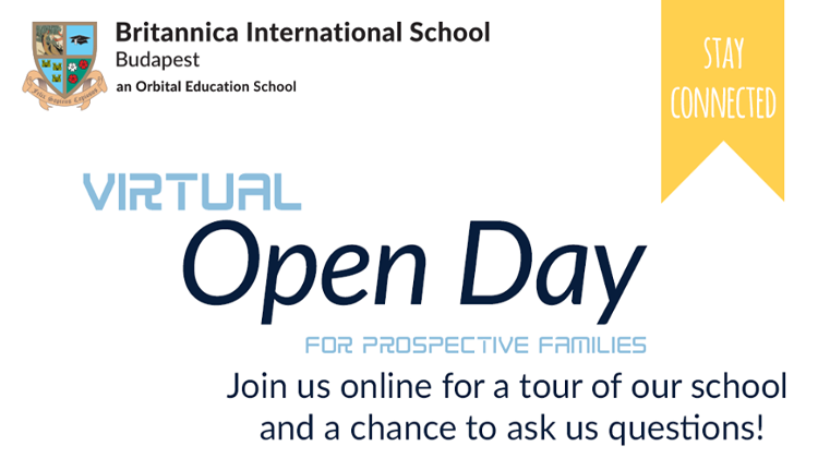 Virtual Open Day @ Britannica International School Budapest, 29 April
