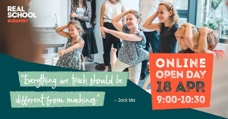 Online Open Day @ Real School Budapest, 18 April