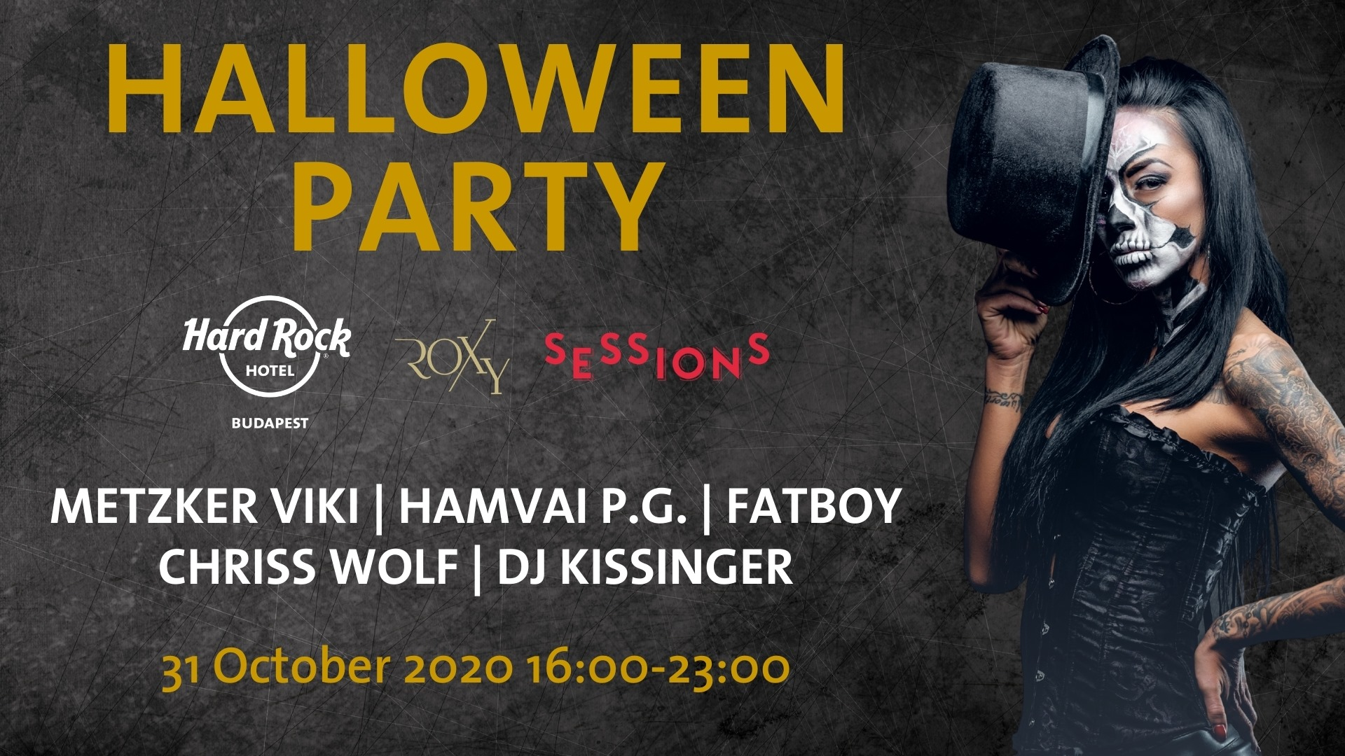 Halloween Party @ Hard Rock Hotel Budapest, 31 October
