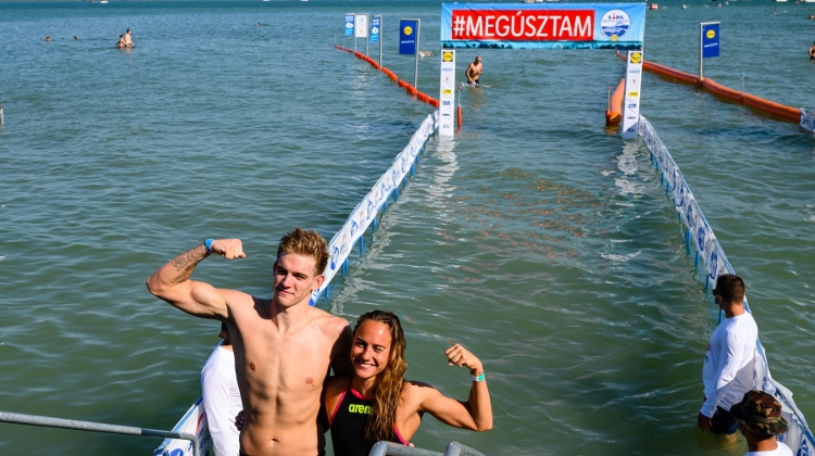 New Record Time Winner At 38th Cross-Balaton Swimming Competition
