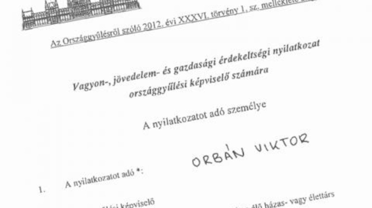 Hungarian Opinion: MPs' Annual Asset Declarations Published