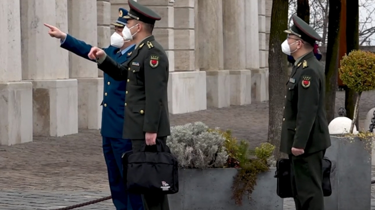Chinese Defence Minister Visits Presidential Palace In Budapest