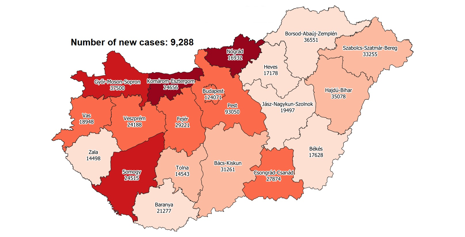 Covid Update: 230,161 Active Cases 258 New Deaths In Hungary