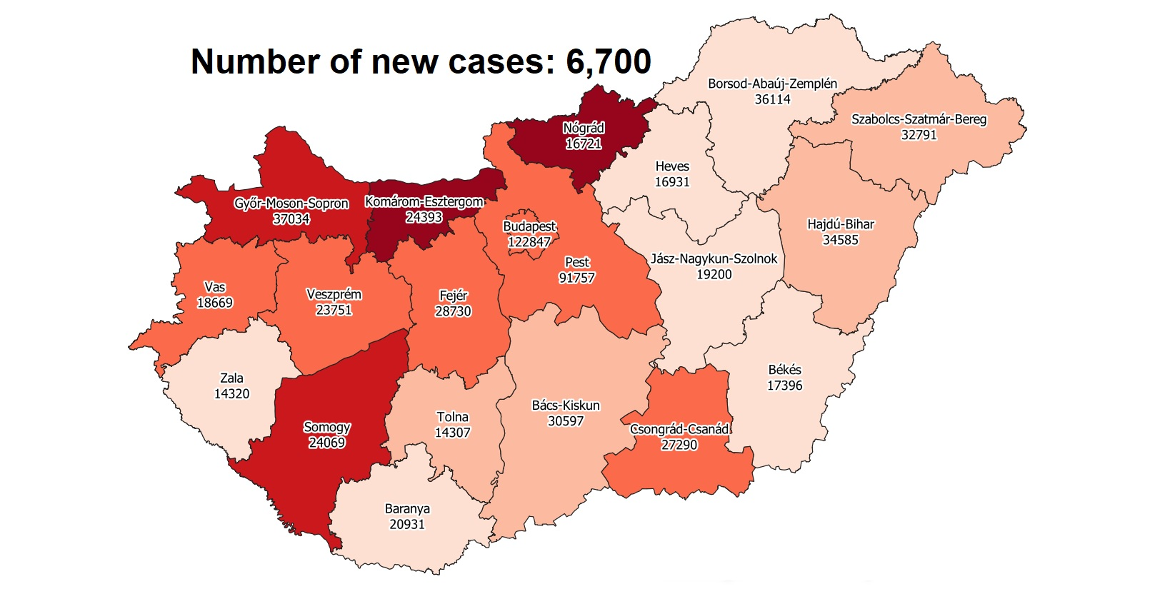 Covid Update: 224,761 Active Cases 302 New Deaths In Hungary