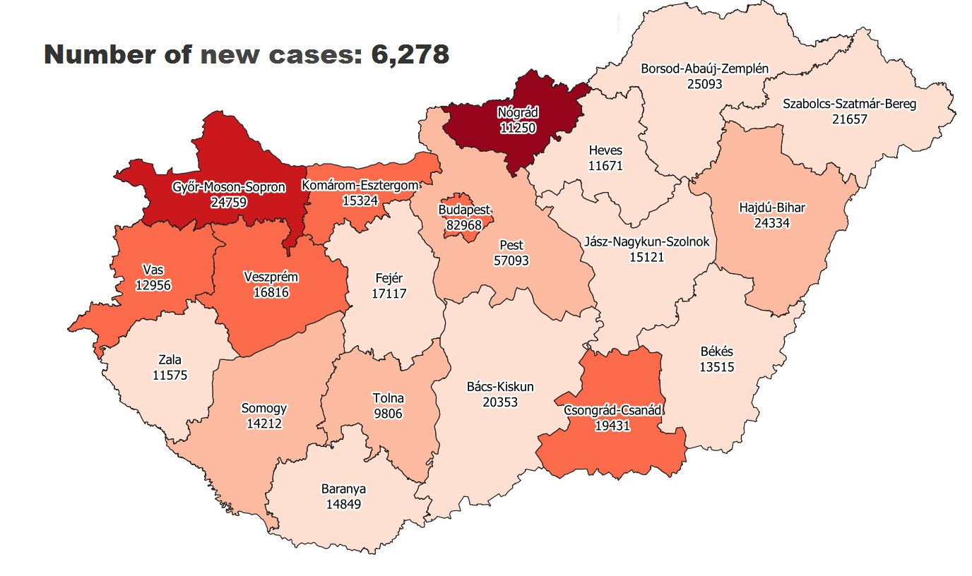 Covid Update: 102,566 Active Cases 152 New Deaths In Hungary