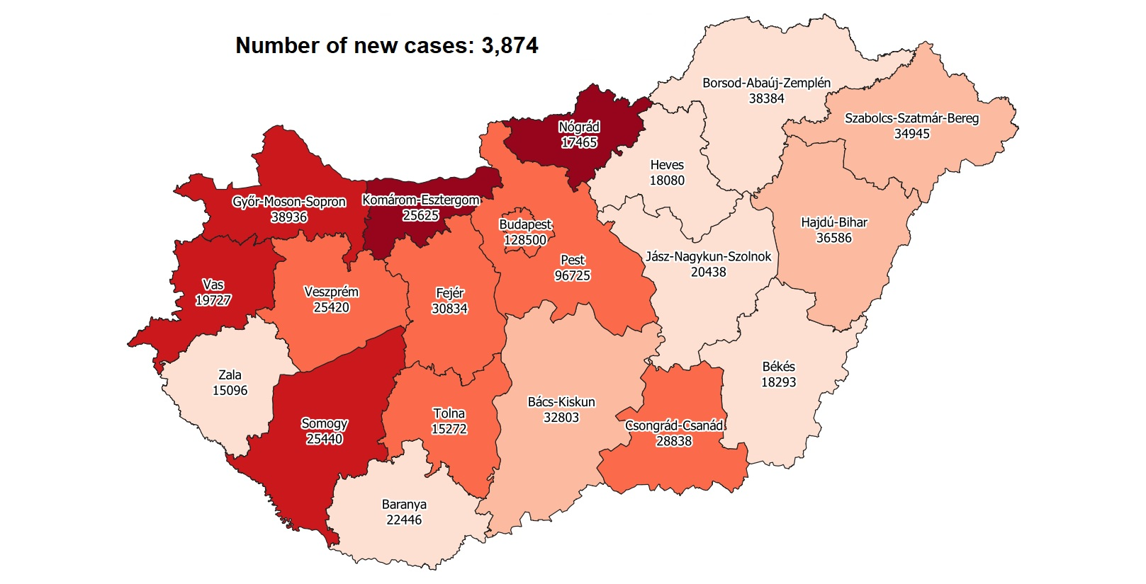 Covid Update: 249,841 Active Cases 213 New Deaths In Hungary