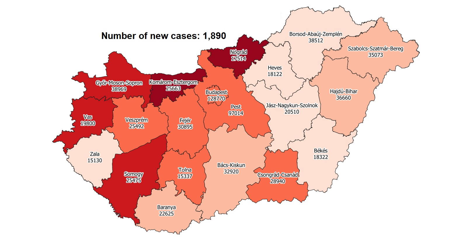 Covid Update: 251,077 Active Cases 170 New Deaths In Hungary