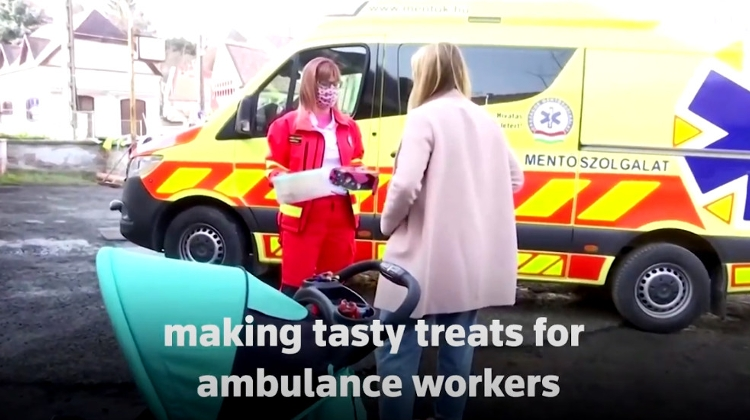 Watch: Kind Hungarians Bake For Ambulance Crews