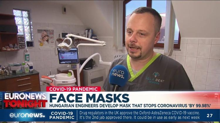 Watch: Hungarian Engineers Develop Mask That Stops Coronavirus 'By 99.98%'