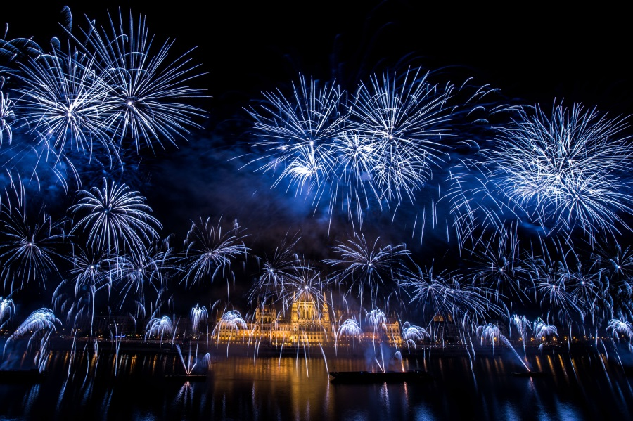 National Holiday Fireworks In Budapest, 20 August