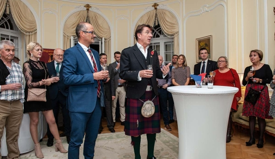 Pre Whisky Show Reception At British Ambassador's Residence In Budapest