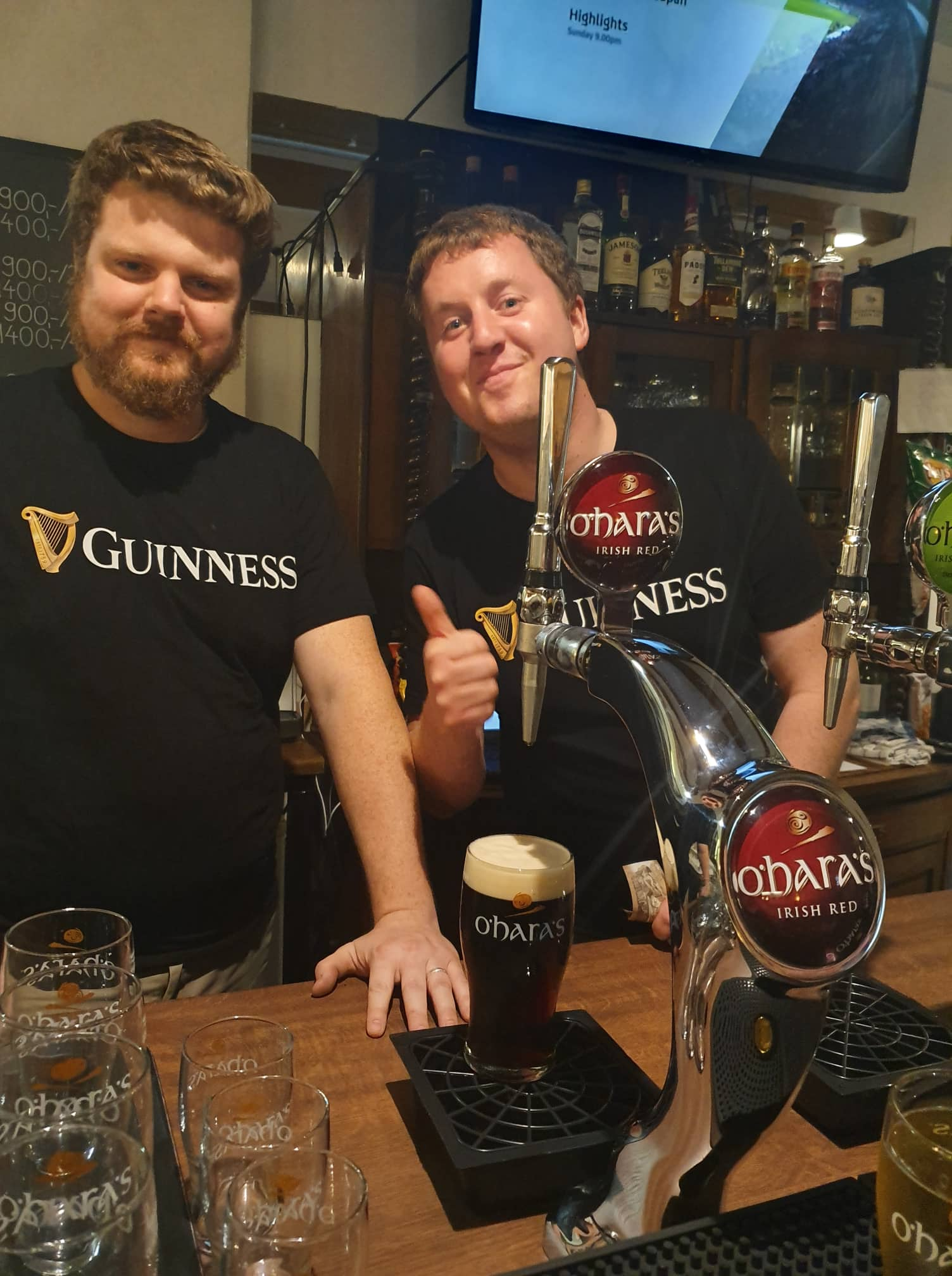Tim Helmick & Brian Tuohy, Owners Of Davy Byrne's Pub In Downtown Budapest