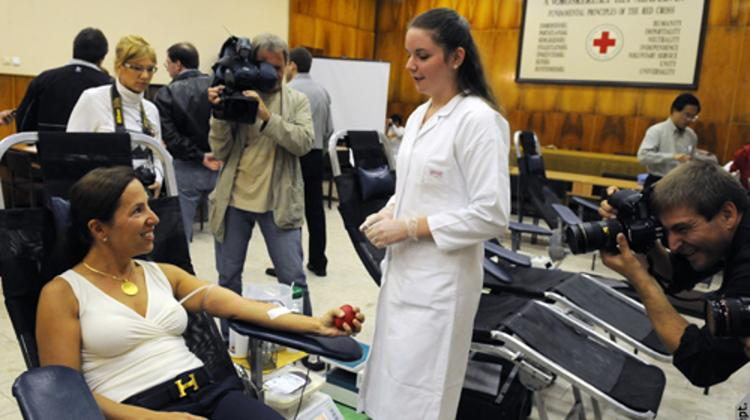 Giving Blood In Budapest To Commemorate The Anniversary Of 9/11