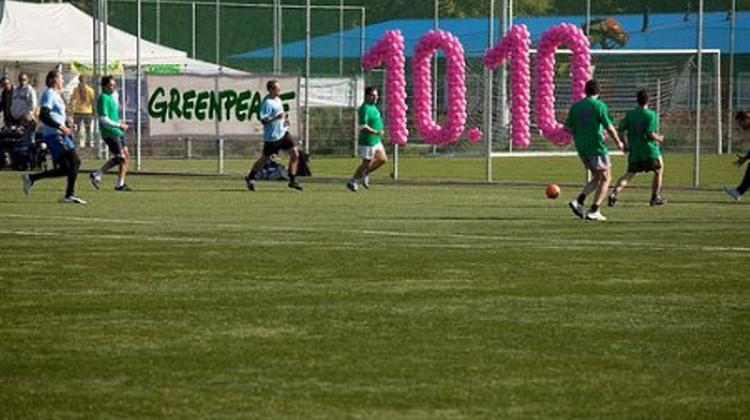 Celebrating 10:10:10 With Climate Football Match In Hungary