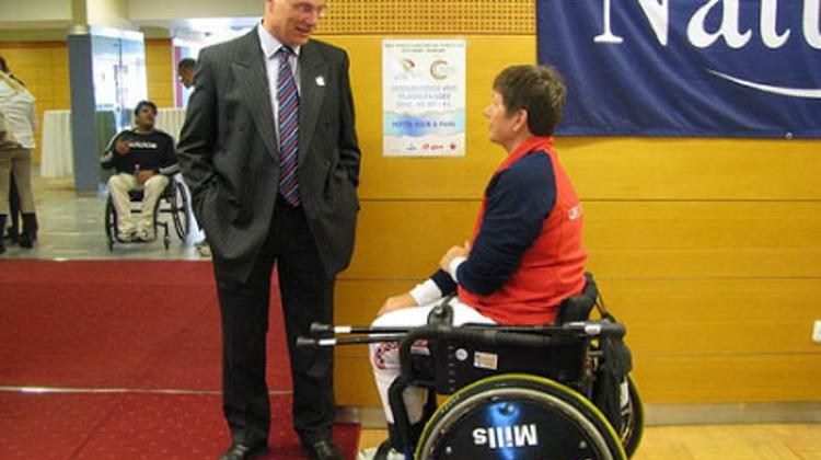 British Ambassador At The Wheelchair Fencing World Cup