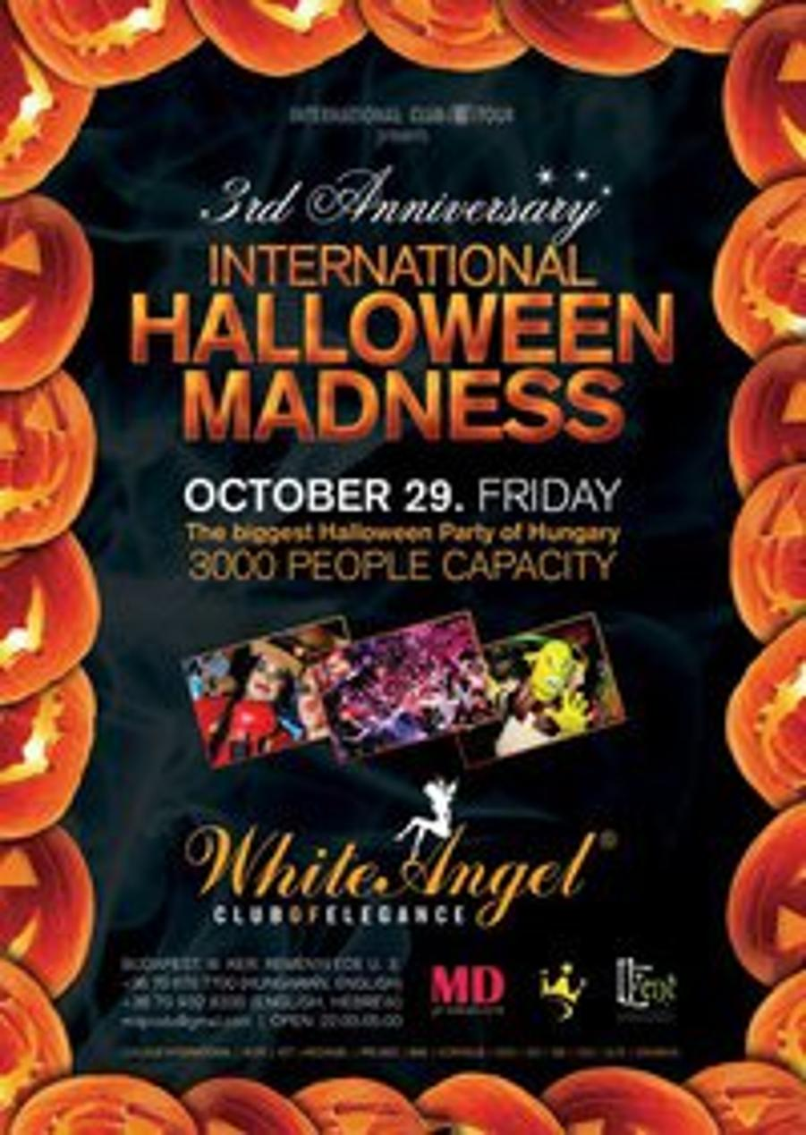 International Students Halloween Party, White Angel Budapest, 29 October