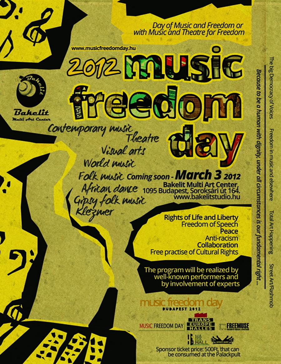Music Freedom Day Is Coming To Hungary To Bakelit Multi Art Center On 3 March