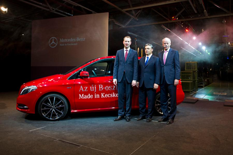 Mercedes Plant In C Hungary Outstanding Achievement, Says PM