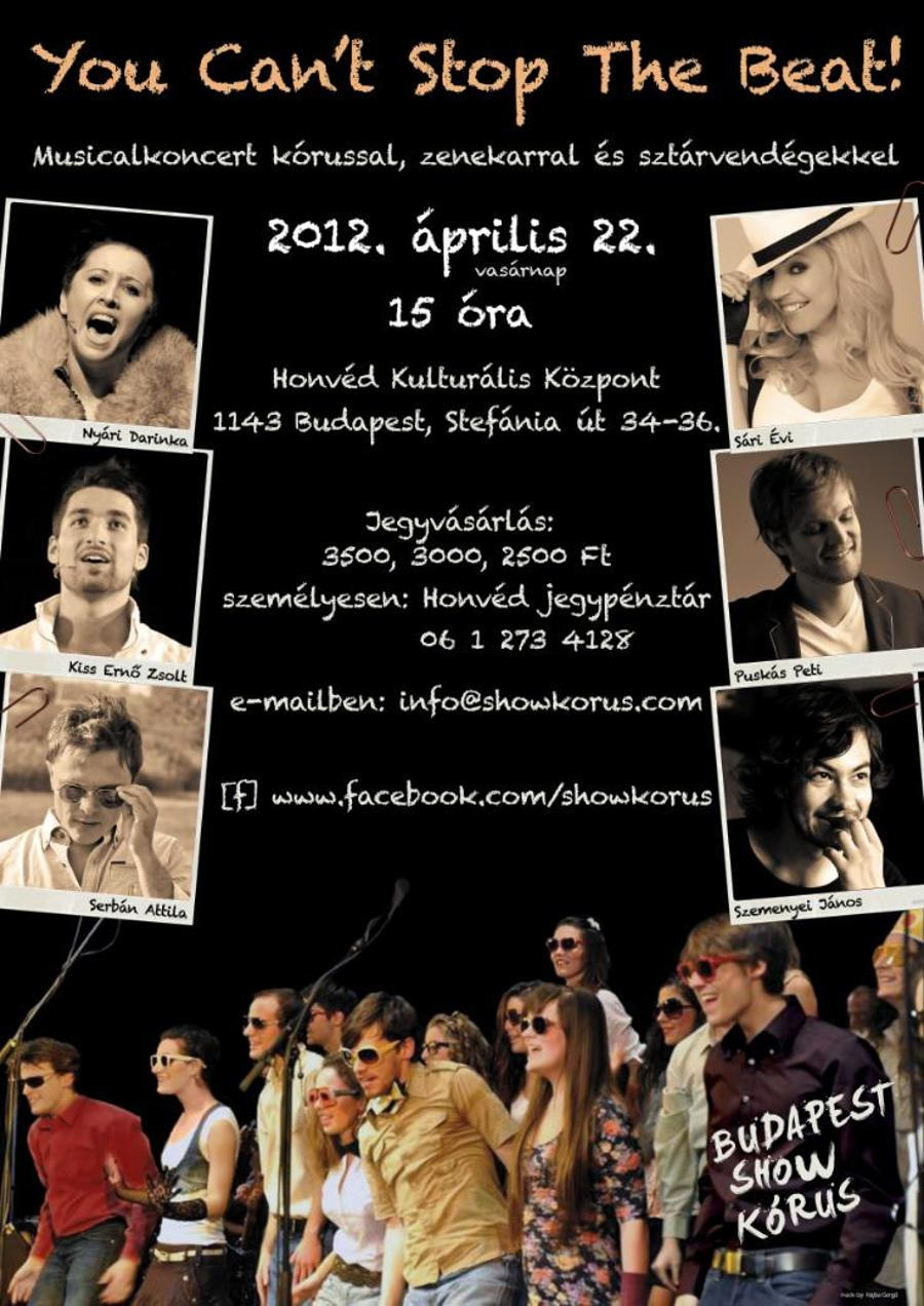 Invitation: Budapest Show Choir Concert, Honvéd Cultural Centre, 22 April