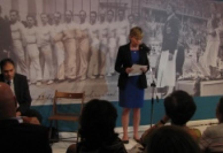 British Chargé d'Affaires Opens Olympic Exhibition In Jewish Museum In Budapest
