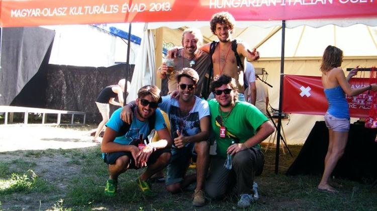 Hungarian – Italian Cultural Season 2013 Tent At The Sziget Festival