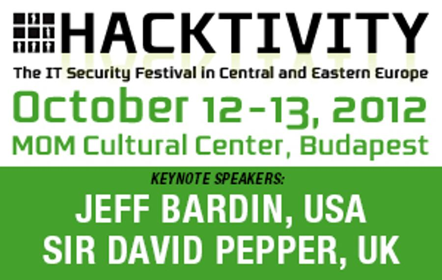 Invitation: Hacktivity 2012, Budapest, 12 - 13 October