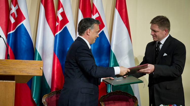Hungary's PM Meets With Slovakian Prime Minister Robert Fico