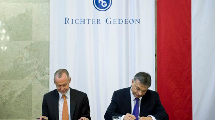 PM Signed Agreement With Hungarian Pharmaceuticals Maker Richter Gedeon