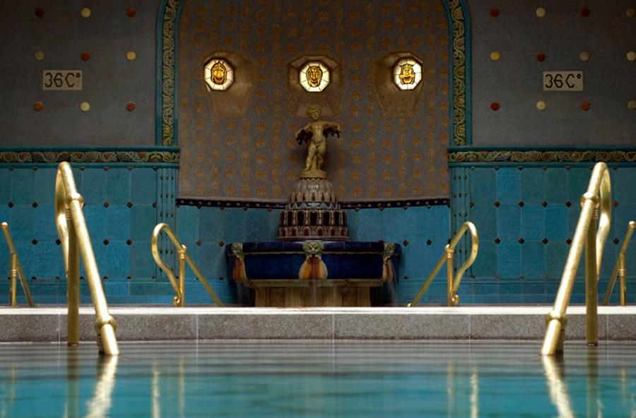 Thermal Baths Open In Budapest During Christmas