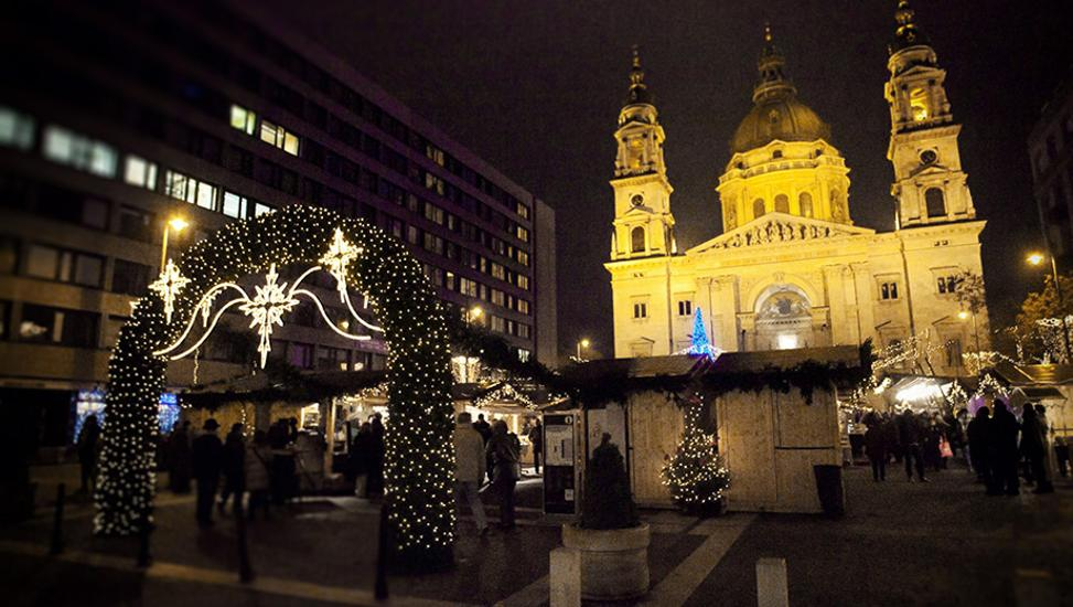 Advent Fair By The Basilica In Budapest In 2012