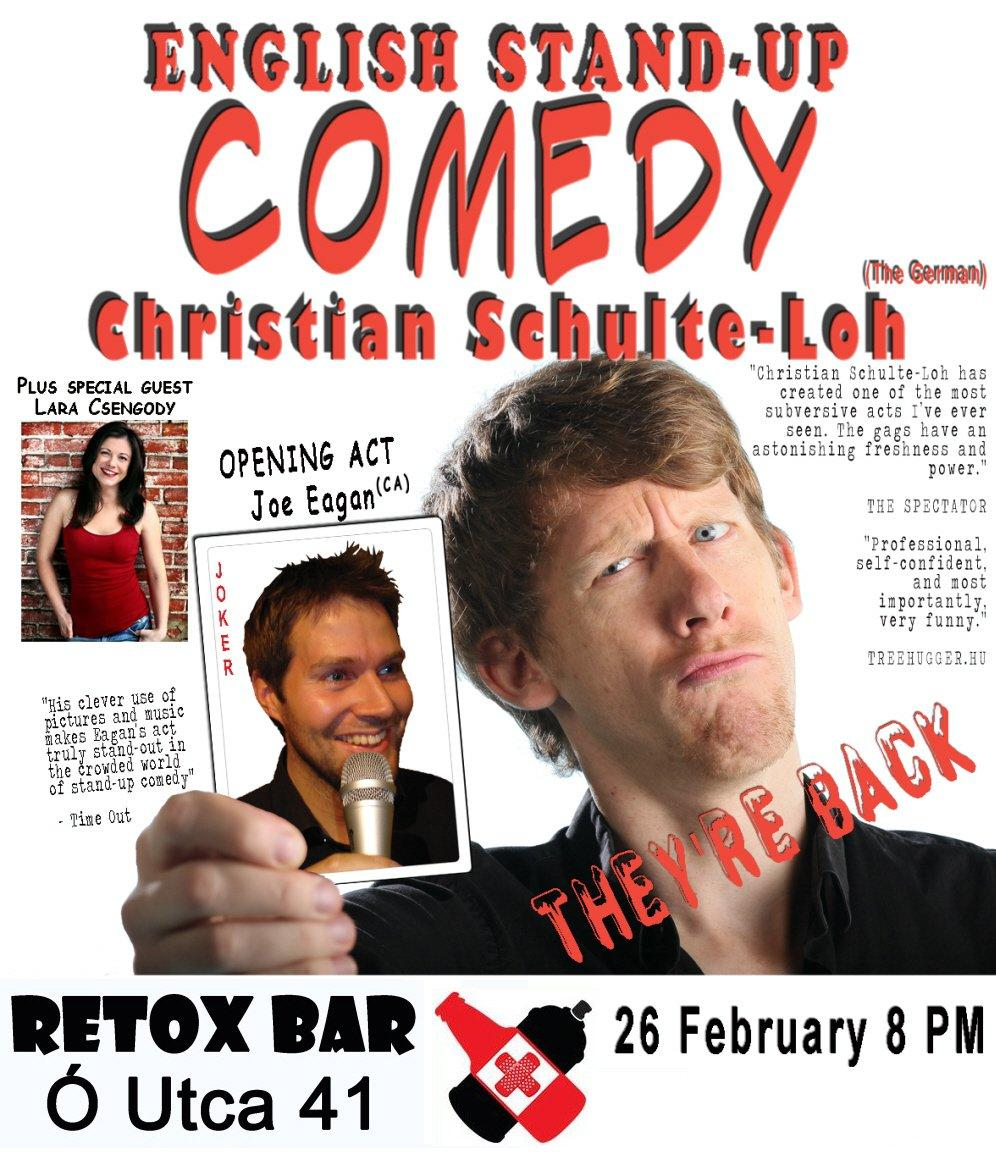 Venue Change: English Stand-Up Comedy In Budapest, 26 February