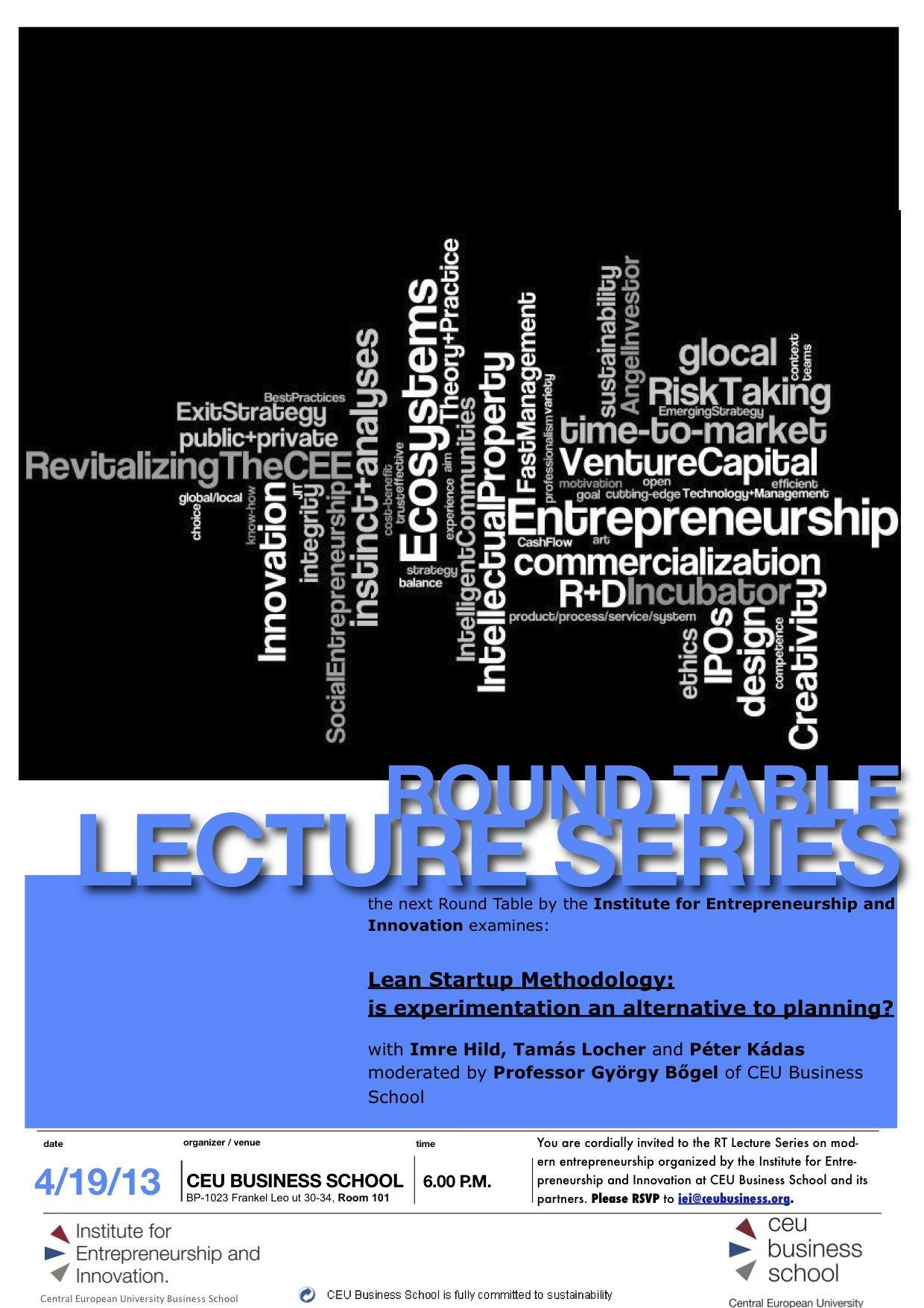 CEU Business School Budapest Event: Lean Startup Methodology On 19 April