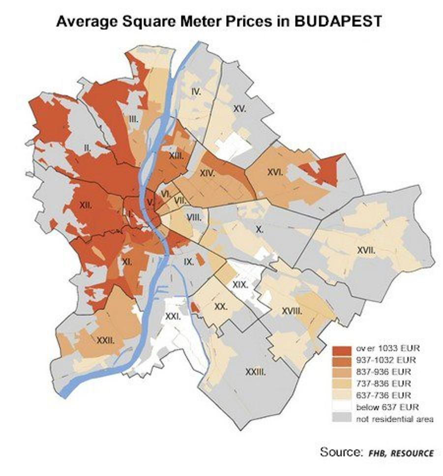 Xpat Opinion: Income Map Of Budapest