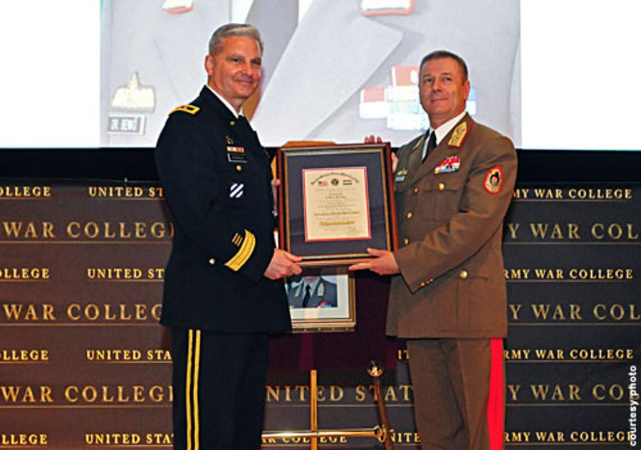Hungary's Chief Of Staff General Tibor Benko Inducted Into The War College Hall Of Fame