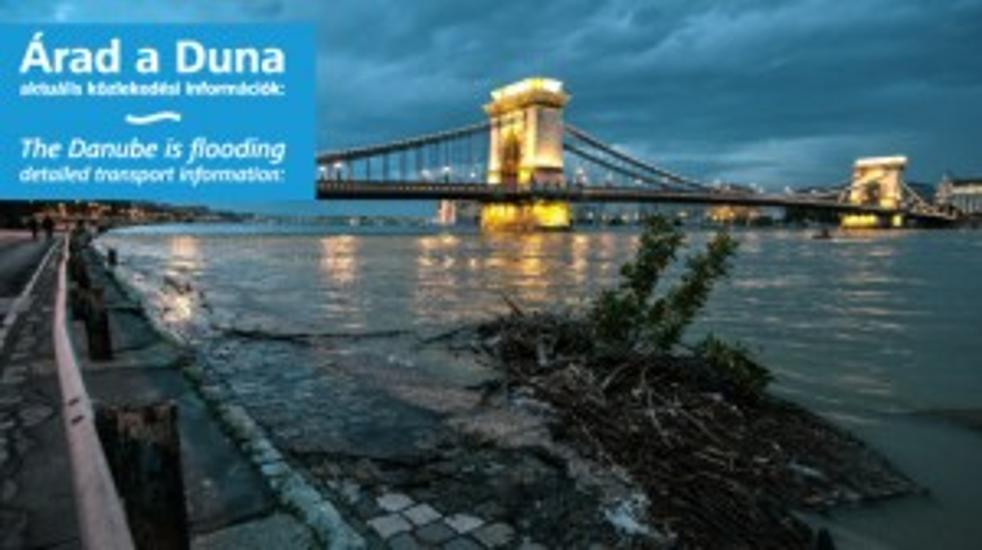 Traffic Changes In Budapest Due To Danube Flooding - 14 June Noon